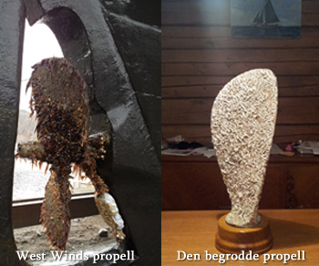 West Winds propell og SSCAs begrodde propell